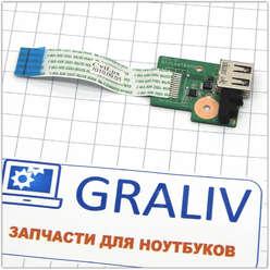 Плата расширения USB ноутбука HP DV6-3000 серии, DA0LX6TB4D0