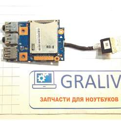 Картридер, USB, аудио, плата расширения ноутбука Lenovo Z570, B570E 48.4PA04.01M