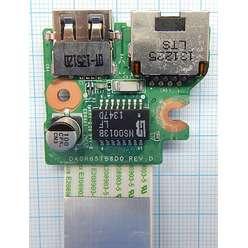 Плата USB, LAN разъемов ноутбука HP 17-E060SR DA0R65TB6D0