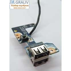 Плата включения с разъемами USB  для ноутбука Samsung R720