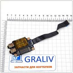 Доп. плата с картридером, аудио разъёмами ноутбука Lenovo G470, G475, G570, G575 LS-6751P