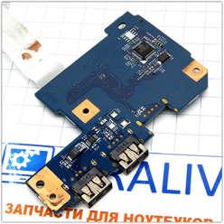 Плата расширения USB ноутбука Packard Bell LM94 MS2291 48.4HP02.011