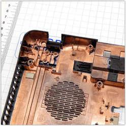 Нижняя часть корпуса, поддон ноутбука Toshiba Satellite C660 K000124180, AP0II000110
