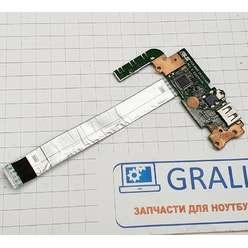 Доп. плата с разьемами audio, card Reader, USB ноутбука Asus S551L K551L A551L 60NB02A0-US1040