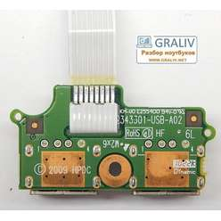 Плата расширения USB ноутбука HP 625 6050A2343301