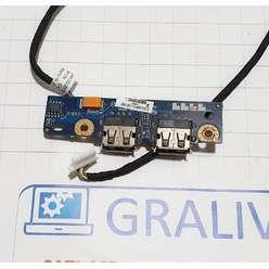 Доп. плата с usb ноутбука HP DV7-1000 LS-4082P