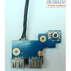 Плата USB с кнопкой включения ноутбука Samsung NP305E5A, NP300V5A, NP300E7A, NP305 SERIES BA92-08350A