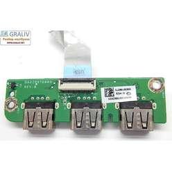 Плата расширения USB ноутбука  Acer Aspire 5553, 5745, 5625, 5820, DA0ZR8TB8B0