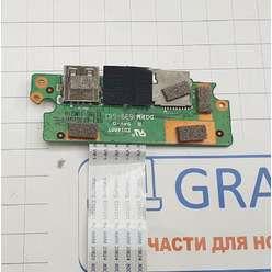 Доп. плата с разьемами audio, card Reader, USB ноутбука IRBIS NB46