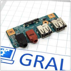 Плата расширения USB, аудио разъемов ноутбука Sony VAIO PCG-7181V, PCG-7173P, CNX-442 1P-1094J01-8011