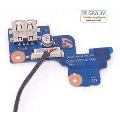 Кнопка включения, USB плата ноутбука Samsung NP-RV515, RV520 BA92-07488A