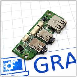 Плата расширения USB портов ноутбука DNS C5500Q (123975) 6-77-C4508-D02A-1