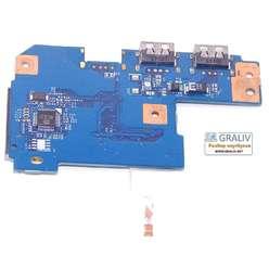 USB плата с картридером ноутбука Packard Bell LM85 MS2290, LM82, Acer Aspire 7551G, 7741, 48.4HP02.011