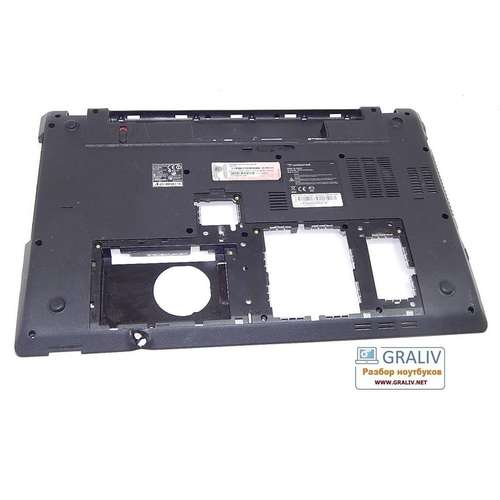 Поддон, нижняя часть корпуса ноутбука Packard Bell LM82 DAZ604HS03004