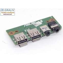 USB плата ноутбука Asus N53J  60-NZTIO1000-C04
