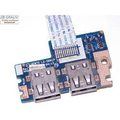 USB плата ноутбука Acer 5552G, 5742,5741, 5551, PB NEW70, NEW75, NEW90, TM86, NEW91 TM85 eMacines E640 E642, LS-5891P