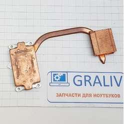 Радиатор системы охлаждения, термотрубка ноутбука Clevo M660, 6-31-M66SN-100