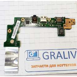 Доп. плата с кнопкой включения, USB, Audio, LAN, ноутбука Asus Eee PC X101CH X101CH_IO Rev:2.1