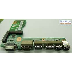 Плата USB разъемов Asus A52, K52 X52, 60-NXLD1000