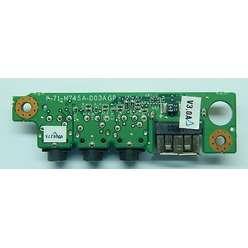 USB плата расширения Clevo M765S / 6-71-M74SA-D03AGP с аудио разъемами