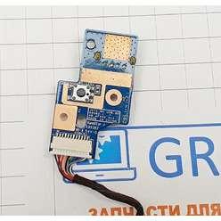 Плата с кнопкой включения и разьемом USB ноутбука Acer 7540, 7740, 7736, 48,4FX02.011
