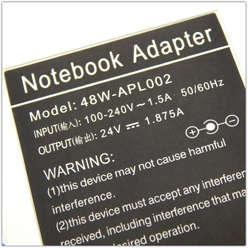 Блок питания для ноутбука APPLE 24V 1.875A