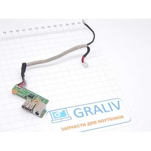 Плата расширения USB ноутбука HP DV6000, DV6500 DV6700 DDAT8APB