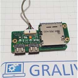 Доп. плата USB, Card-reader ноутбука Asus K70, 69N0ESG10B03-01