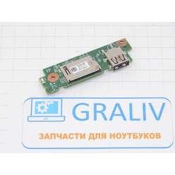 Плата USB + кардридер для ноутбука Dell Inspiron 17 5000, P26E, CN-0R1F2R