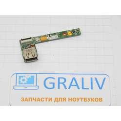 Кнопка включения + USB плата ноутбука MSI VR630, MS-1671AVER