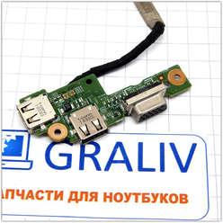 USB, VGA плата расширения для ноутбука Dell Inspiron M5010, 48.4HH03.011
