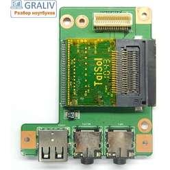 Плата модуль звука, картридера Lenovo B560, V560, LA56 I/O BD