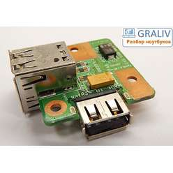 Плата USB разъемов 48.4U502.011. Fujitsu Siemens Esprimo Mobile V5505