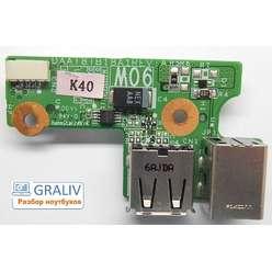 Плата USB разъемов, разъема питания ноутбука HP Pavilion DV6000 DAA181B18A1 REV:A