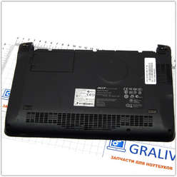 Нижняя часть корпуса, поддон нетбука Acer One 110, ZG5, 3RZG5BSTN000