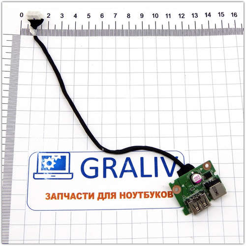 Плата питания + USB разъем для ноутбука Lenovo G580 G585, 55.4XA03.001G, 50.4SH01.041