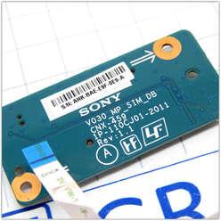 Плата под Sim-карту ноутбука Sony VPCS, PCG-4121CV, 1P-110CJ01-2011