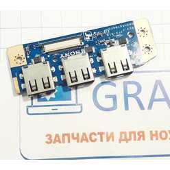 Плата расширения USB ноутбука Sony SVE151G13V DA0HK6TB6F0