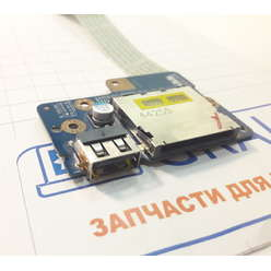 USB плата с картридером ноутбука Dell Inspiron 15-5547, P39F LS-B011P