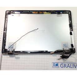 Крышка матрицы в сборе (петли, шлейфы, камера) ноутбука DNS M100P