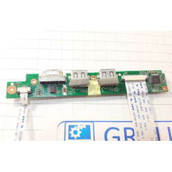 Плата с кнопкой включения и USB портами ноутбука DNS M100P 5000-0003-6301