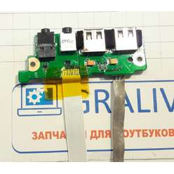 Плата расширения USB со звуковыми разъемами ноутбука DNS H36 (0123257)
