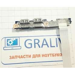 Доп. плата с USB разъемами ноутбука DNS PNS1010 0129908 455N9E30LQ1C2