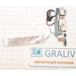 Плата с USB, картридером, кнопкой включения ноутбука Lenovo YOGA 520-14IKB, LS-E541P