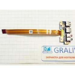 Плата расширения USB + Audio с шлейфом ноутбука Sony PCG-71615V VPCCB 1P-1113200-8011
