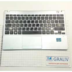 Верхняя часть корпуса, палмрест с клавиатурой ноутбука Samsung NP350U2B, BA75-03263D