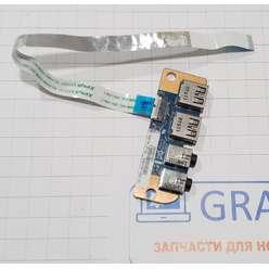 Доп. плата с USB + Audio разьемами ноутбука Toshiba L775, 69N0Y3B10A02