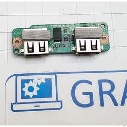 Доп. плата с разьемами USB ноутбука DNS P116K mini (0134339) 5000-0001-8500