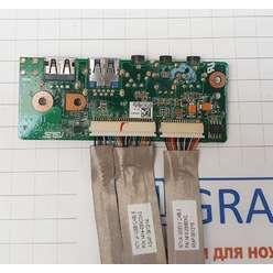 Доп. плата с audio и usb разьемами ноутбука Asus N71J 69N0GLA11A04-01 60-NXGAU1100-A04