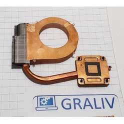 Радиатор системы охлаждения, термотрубка ноутбука HP 2000, 688281-001